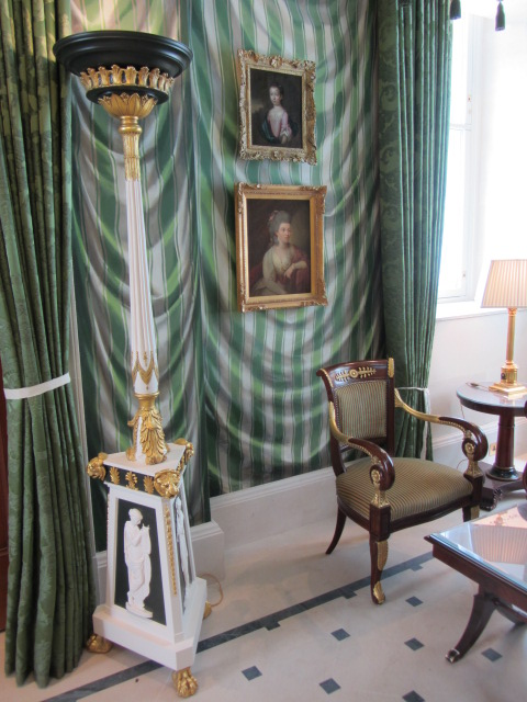 Gustavian Torchiere as featured in The Lanesborough Hotel London